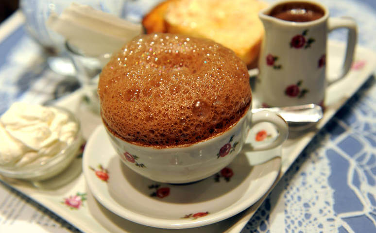 chocolat chaud mousseux cazenave